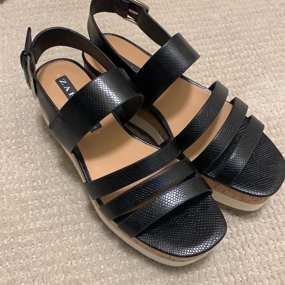 Zara platform sandal